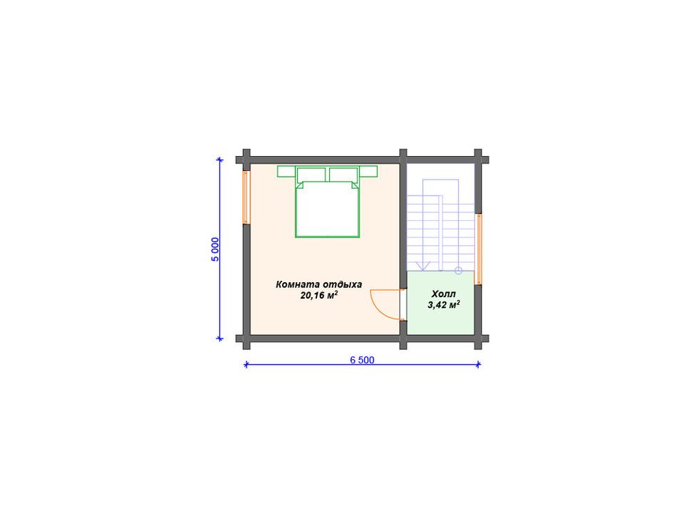 Проект бани 2 этаж