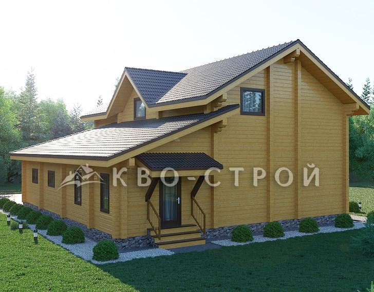 План дома из бруса фасад 2