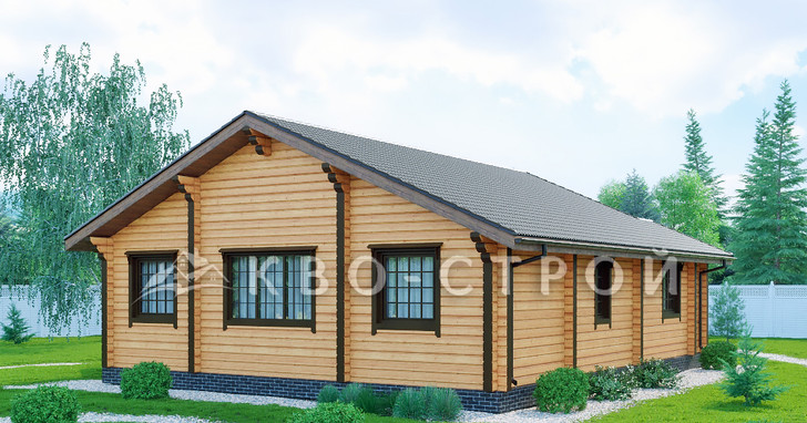 Дом из бруса фасад 3