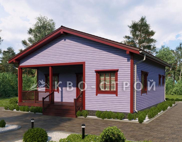 Дом из каркаса фасад 2