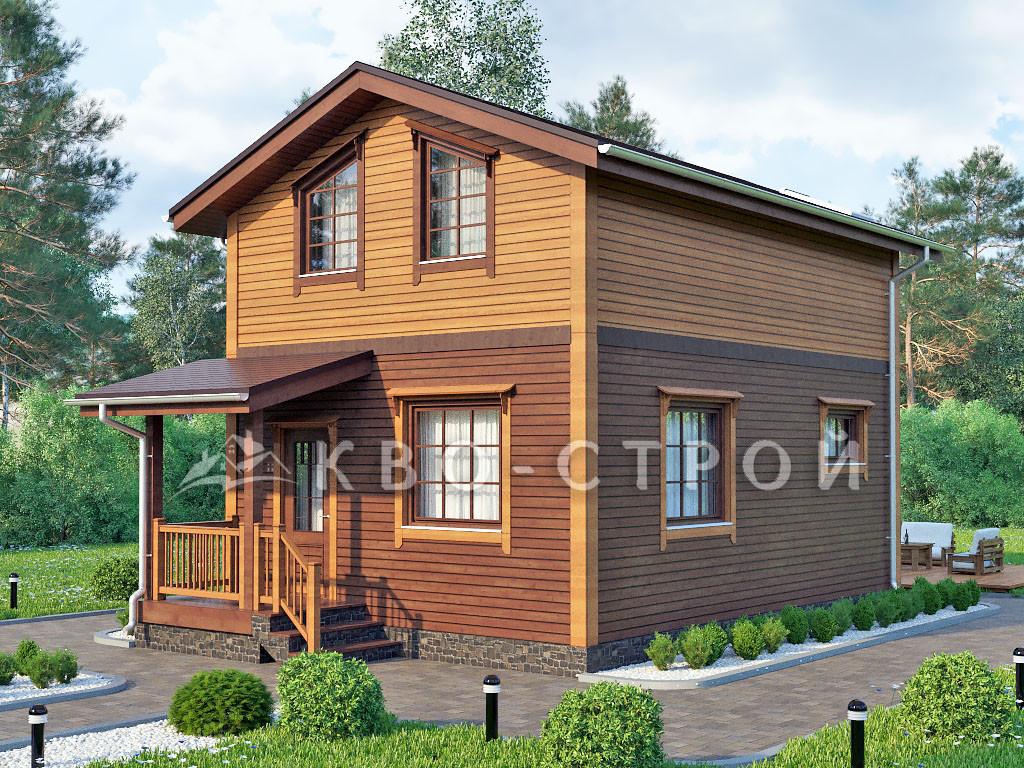 Каркасный дом фасад 2