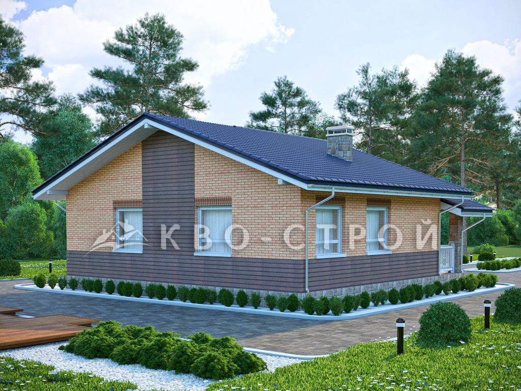 Блоковый дом фасад 4