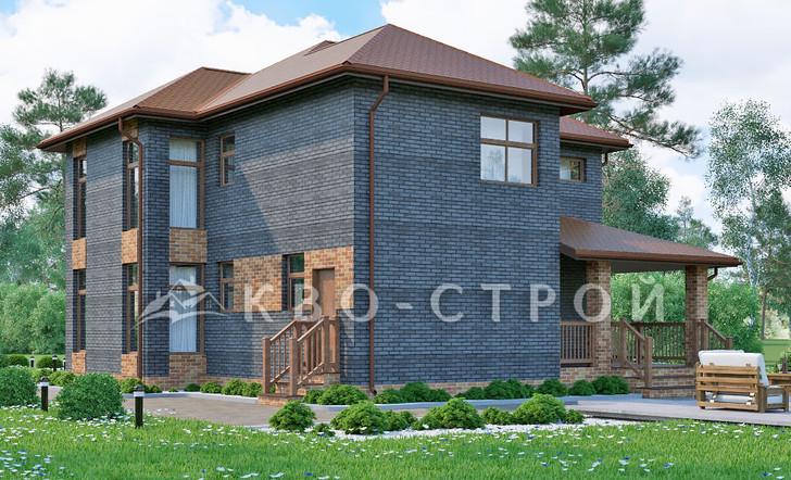 Блоковый дом фасад 3