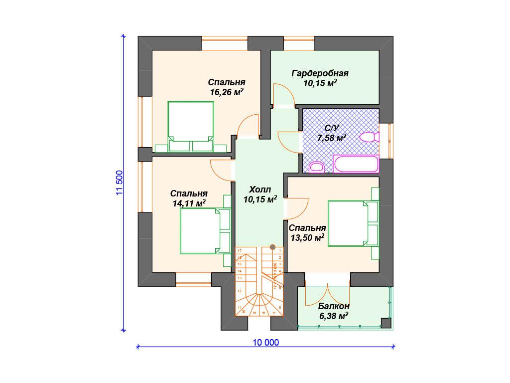 План кирпичного дома 2