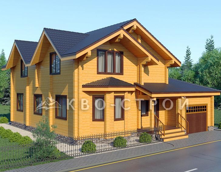 План дома из бруса фасад 4
