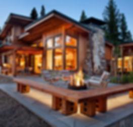 Дом из бруса снаружи