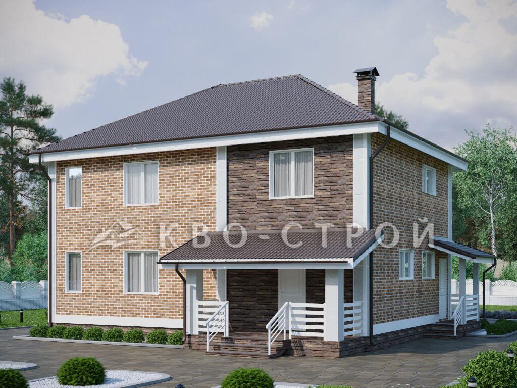 Кирпичный дом фасад 1