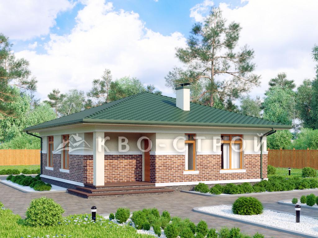 Дом из блоков фасад 1
