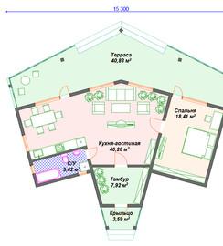 План дома из каркаса