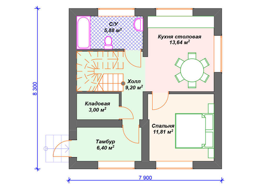 Дом из блоков 1 этаж