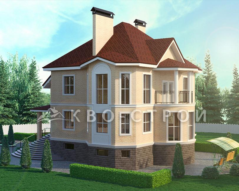 Дом из кирпича фасад 2