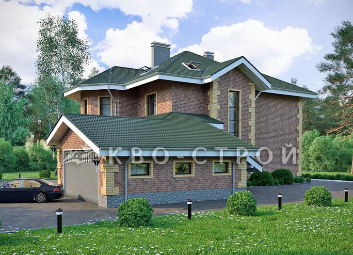 Дом из блоков фасад 2