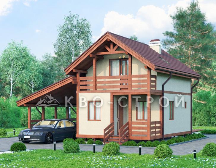 Дом из каркаса фасад 1