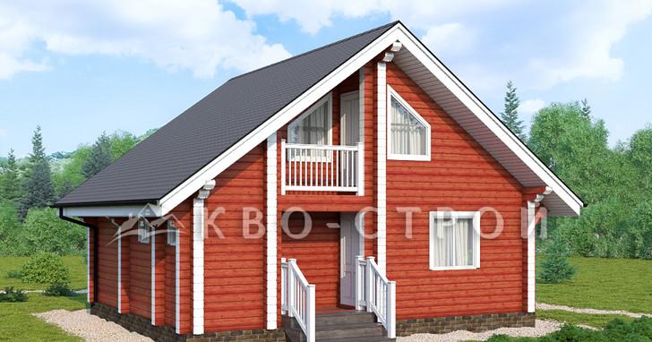 Дом из бруса фасад 4