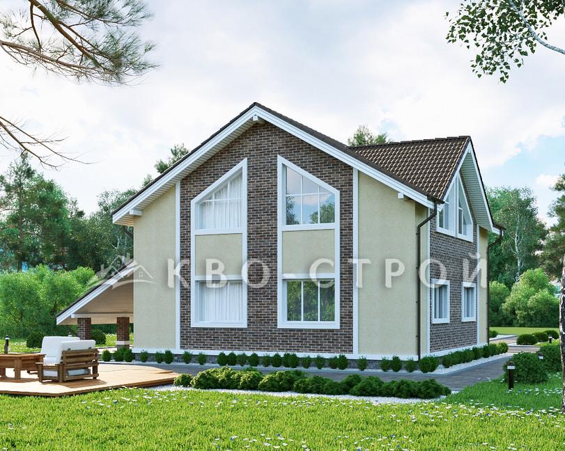 Кирпичный дом фасад 4