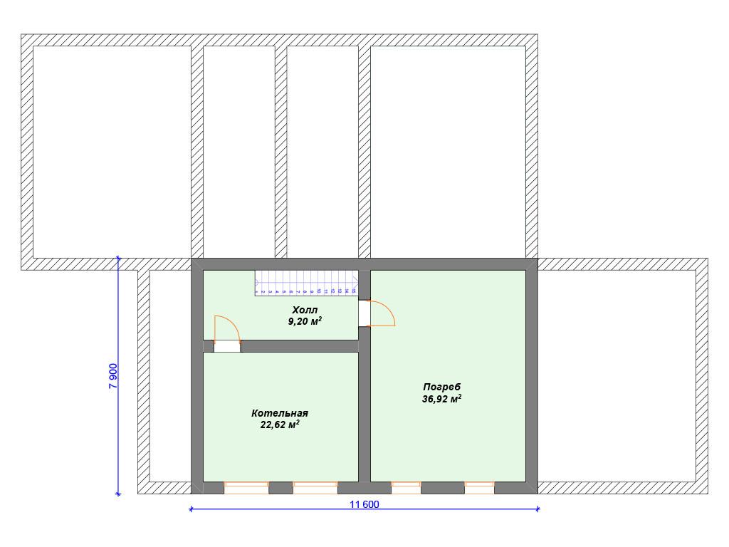 Дом из бревна цокольный этаж