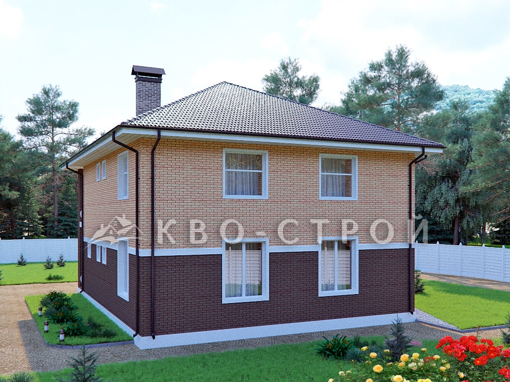 Кирпичный дом фасад 3
