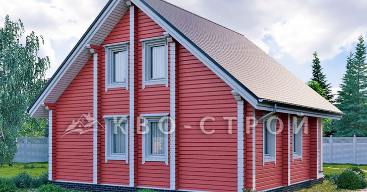 Дома из бруса фасад 3