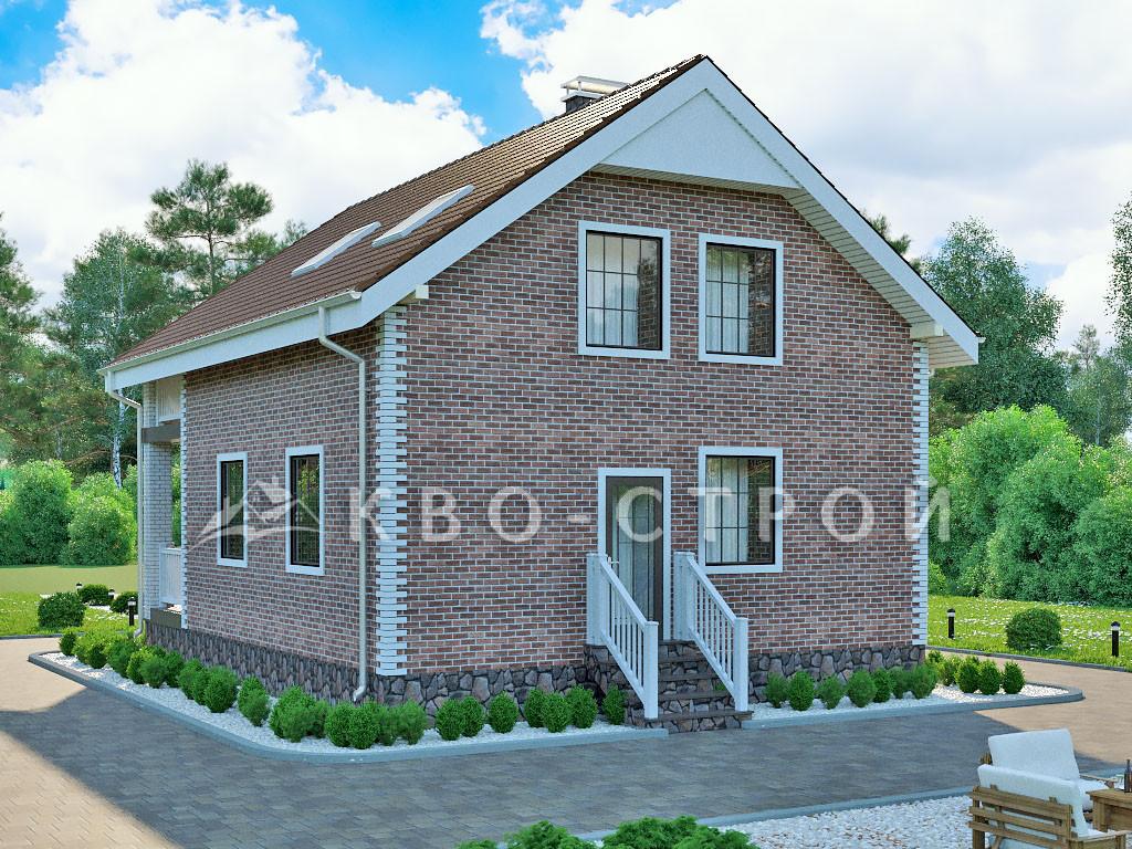 Дом из кирпича фасад 3