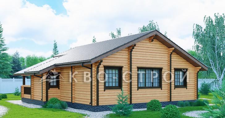 Дом из бруса фасад 2