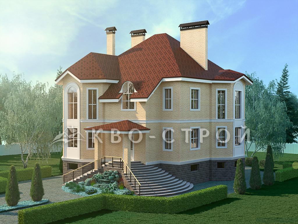 Дом из кирпича фасад 1