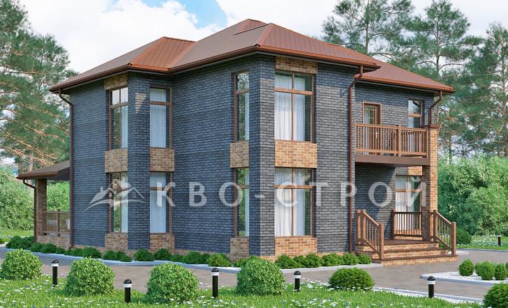 Блоковый дом фасад 1