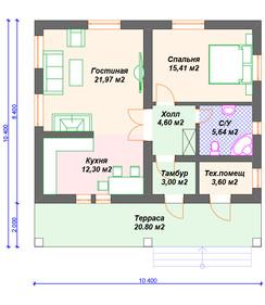 План блокового дома