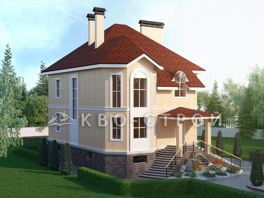 Дом из кирпича фасад 4