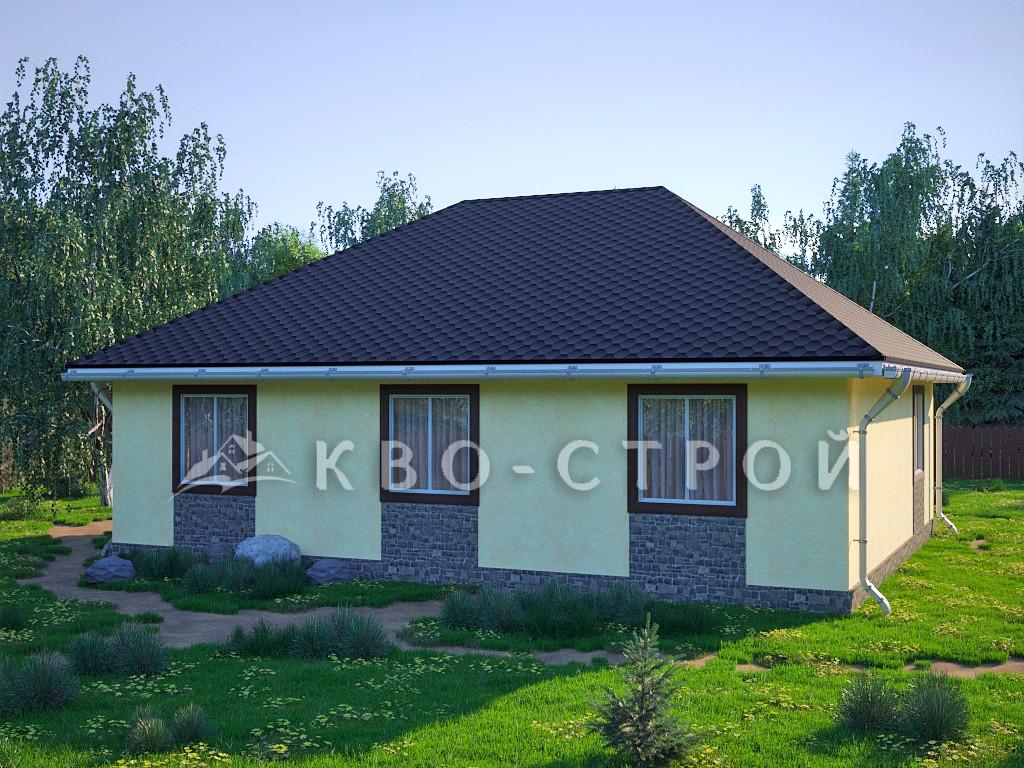 Дом из блоков фасад 3