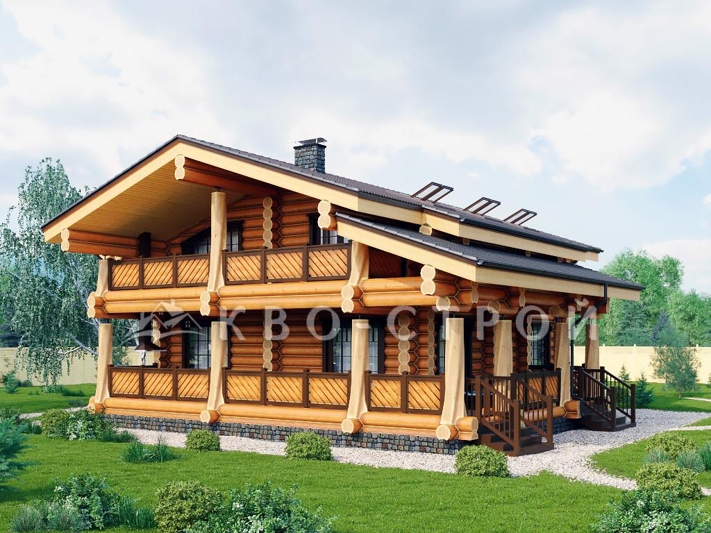 дом из сруба фасад 1