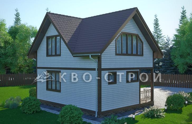 Каркасный дом фасад 4