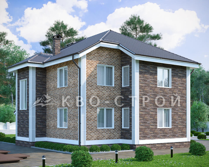 Кирпичный дом фасад 2