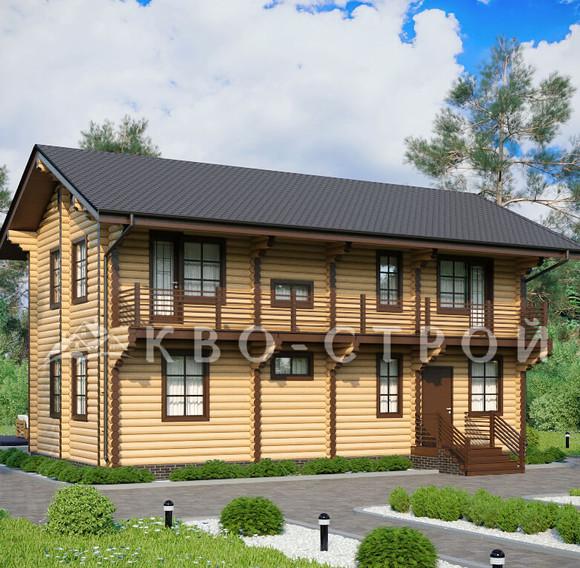 дом из бревна - фасад 4