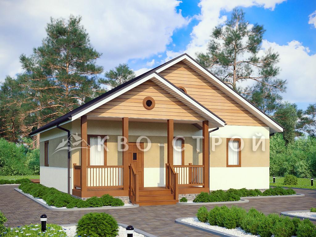 Дом из блоков фасад 4