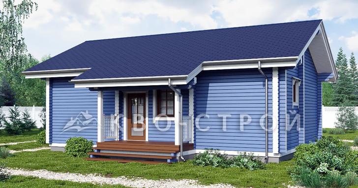 Дом из бруса фасад 1