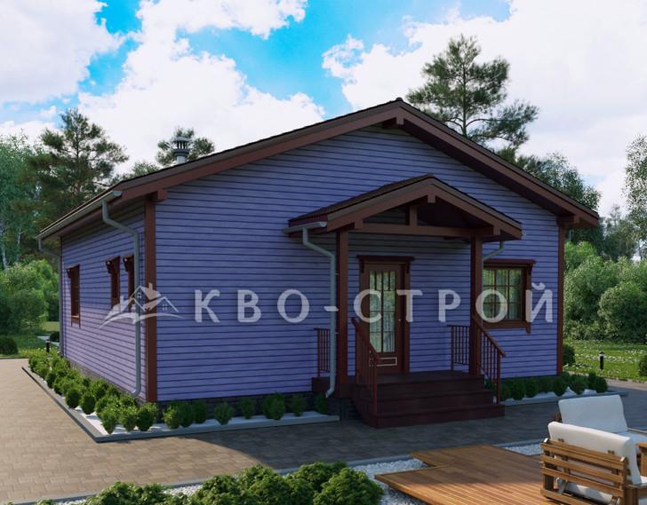 Дом из каркаса фасад 3
