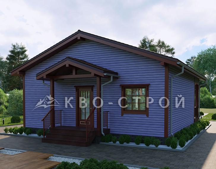 Дом из каркаса фасад 4