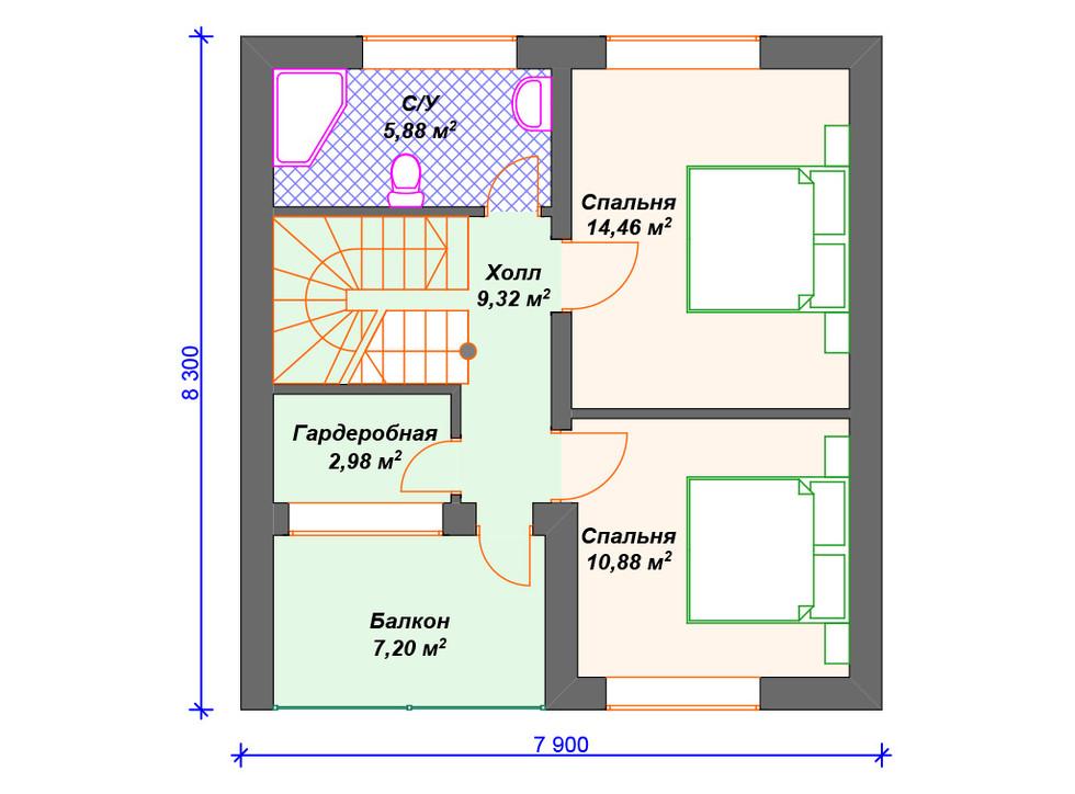 Дом из блоков 2 этаж