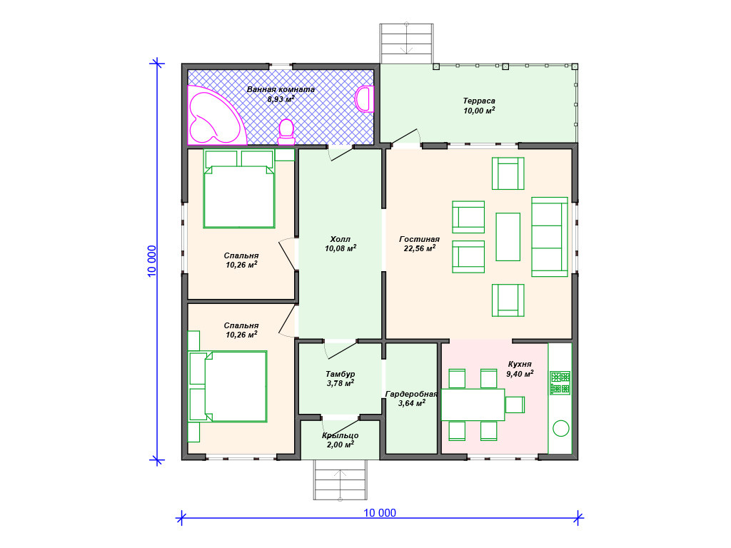 План карасного дома