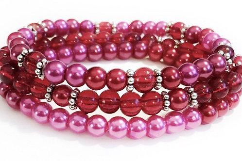 Beaded Stretch Bracelets - Set of 3