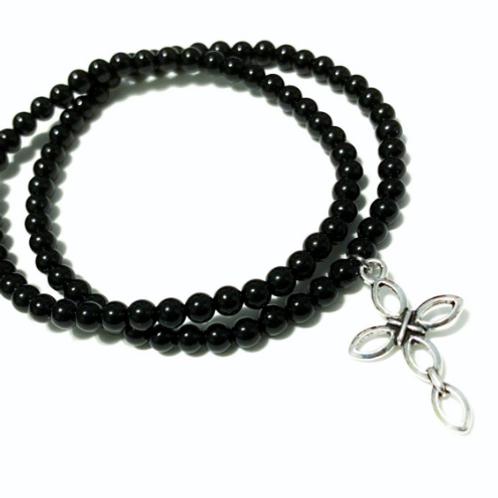 Cross Charm Bracelet - set of two
