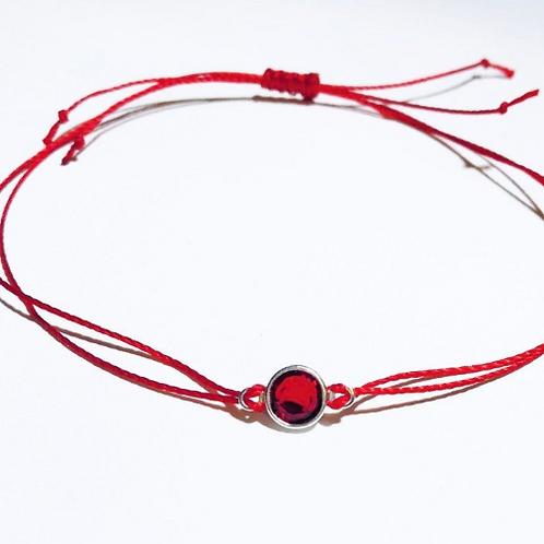 Adjustable Red String Bracelet