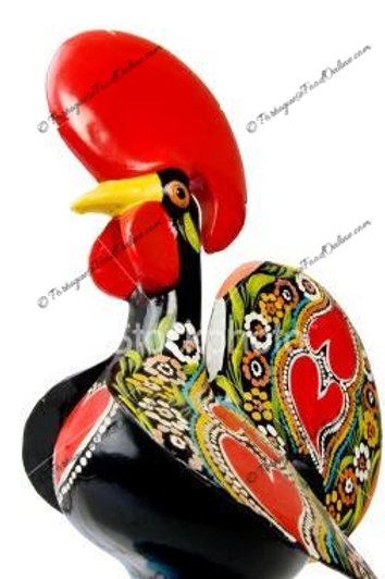 Ceramic Portuguese Rooster Hand Painted