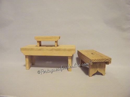 Wood Stools Set