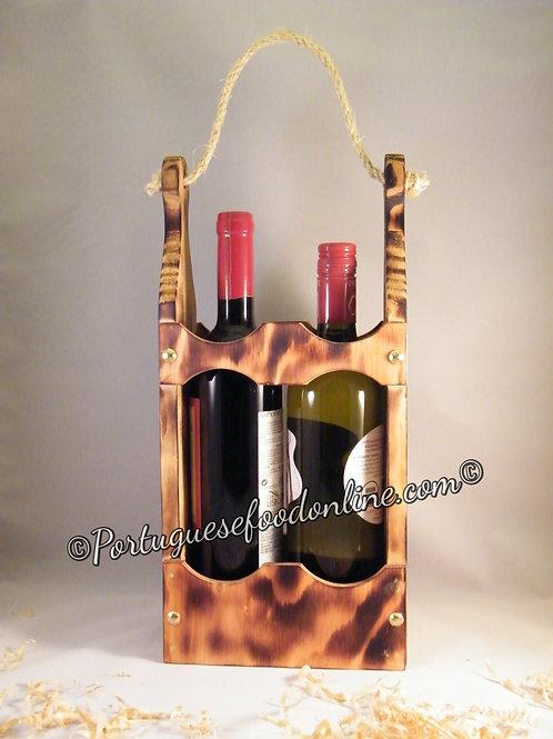 Portuguese Wood Box for Bottles