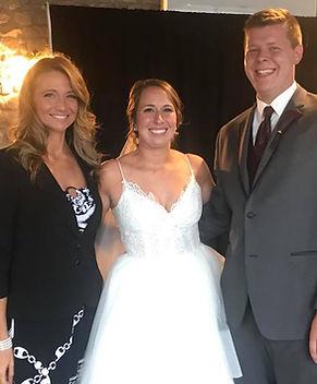 Bretta with a happy couple