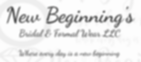 New beginnings bridal and formal wear information and link