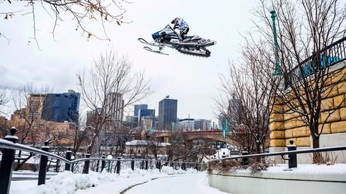 RedBull Urban Snowmobiling | Levi LaVellee