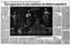 Lundi 6 mai 1991(566) «La Villégiature» de Goldoni-Marceau-Delcampe par l'Atelier Théâtral de Louvain-la-Neuve