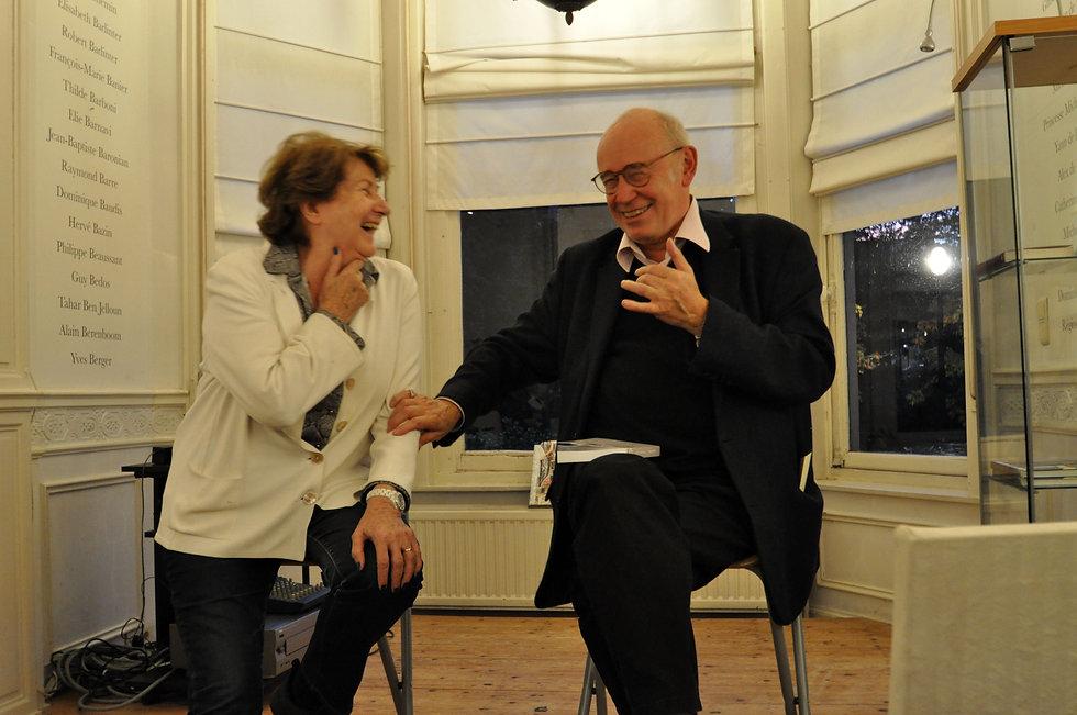 Monique Toussaint (Librairie Chapitre XII) & Jacques De Decker  ©JCVA